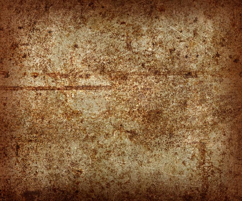 Rusty Grungy Metal Surface with Lots of Scratches royalty free stock images