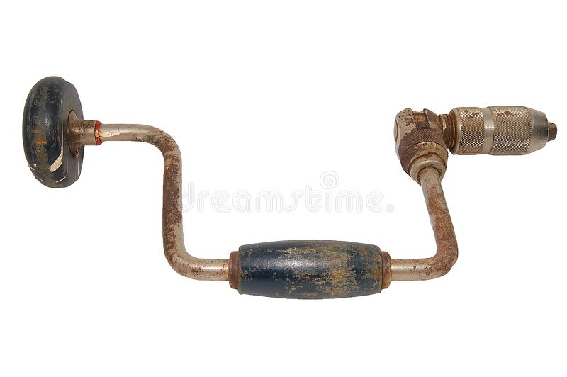 Download Rusty hand drill isolated stock photo. Image of mechanic - 6328196