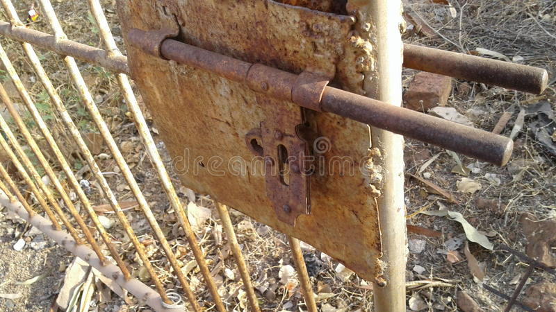Rusty Hasp stock images