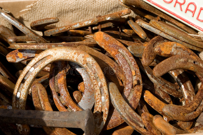 Download Rusty Horseshoes stock photo. Image of oxidation, metal - 790402