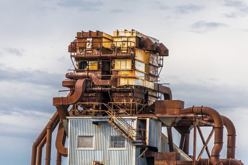 Rusty Industrial Building. In Halifax, Nova Scotia, Canada royalty free stock photos