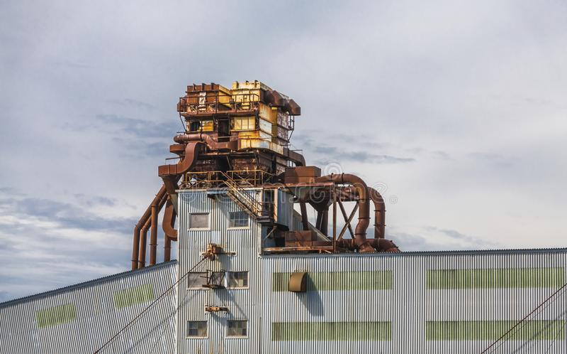 Rusty Industrial Building. In Halifax, Nova Scotia, Canada royalty free stock image