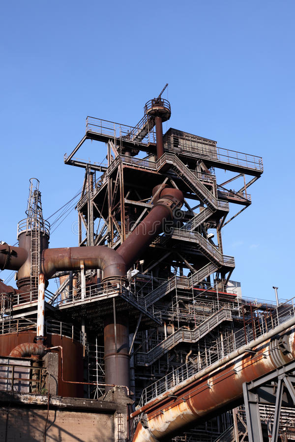 Download Rusty industrial ruin stock image. Image of rusty, steelworks - 33585603