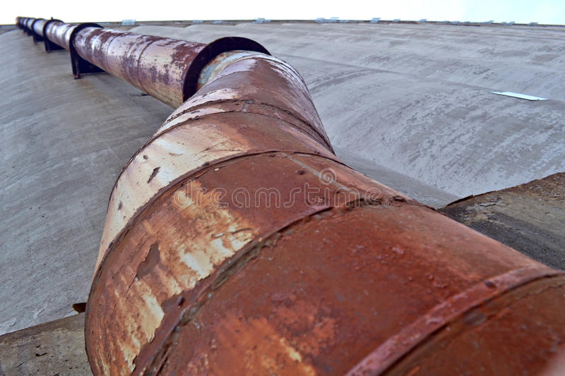 Rusty industrial tube stock photography
