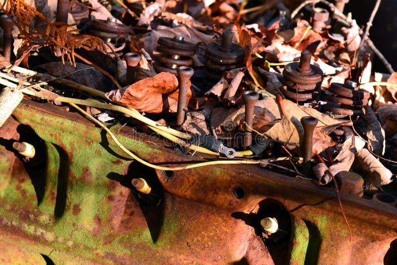 Rusty Inline Motor royalty free stock photos