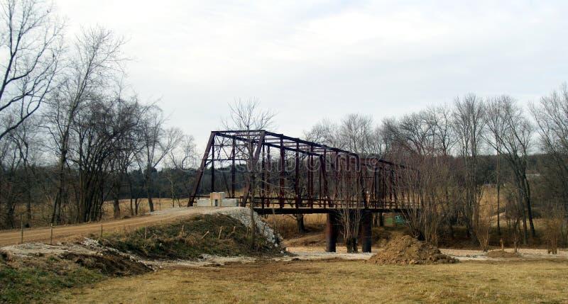 Rusty Iron Bridge a bloqué du trafic photographie stock