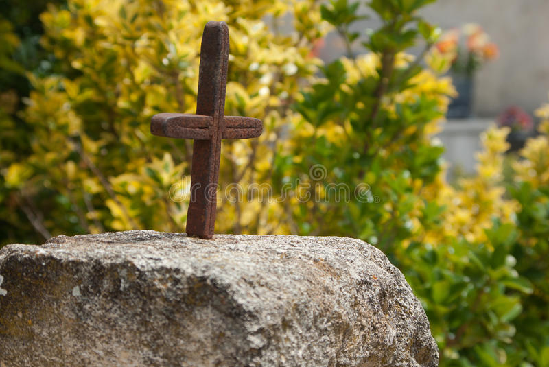 Iron cross stock photo