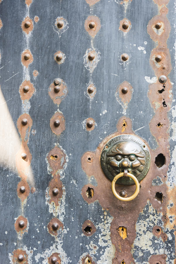 Rusty iron door royalty free stock images