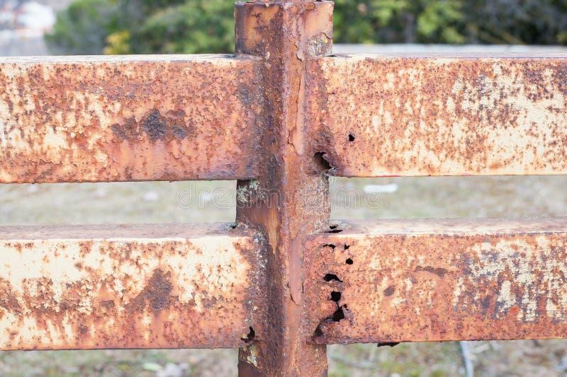 Rusty Iron Railing stock image