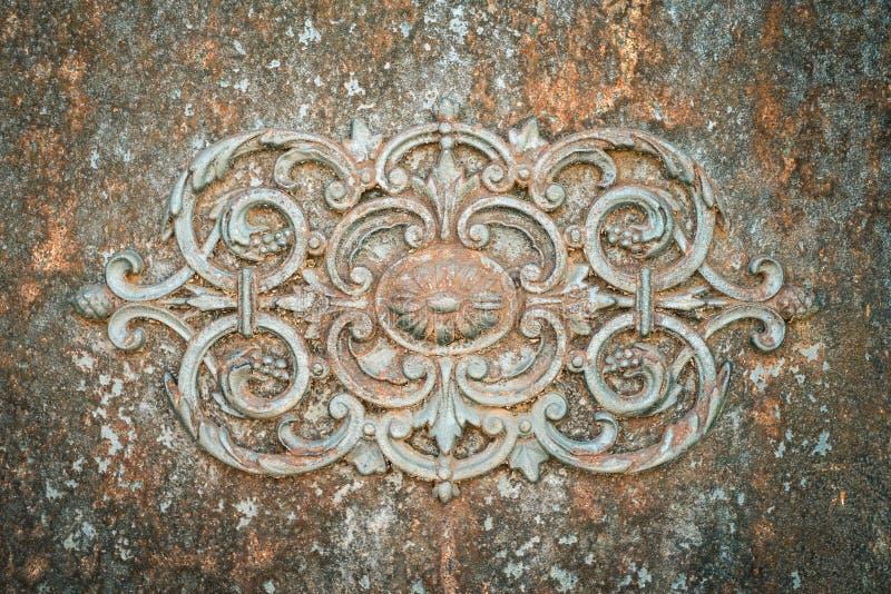 Rusty Ironwork Background Texture royaltyfri bild
