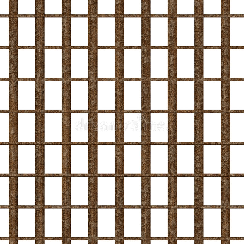 Rusty jail window vector illustration