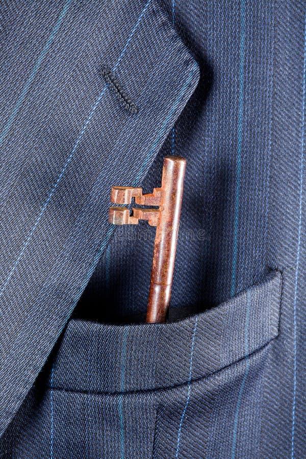 Rusty Key In Pocket Stock Photography