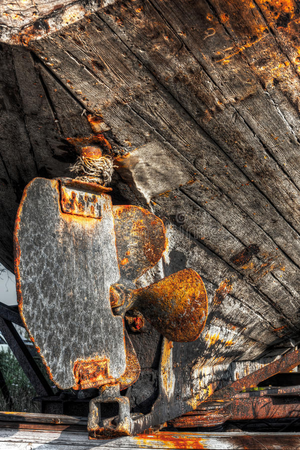 Download Rusty lead of a ship stock image. Image of steering, board - 20349711