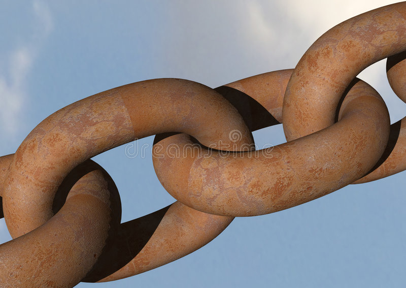 Rusty links royalty free stock image