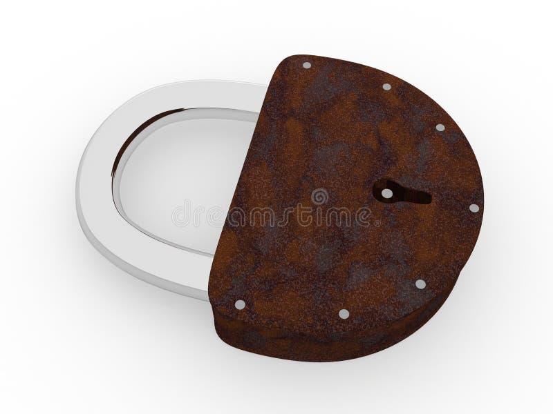 Download Rusty lock stock illustration. Image of logo, drawing - 21410514