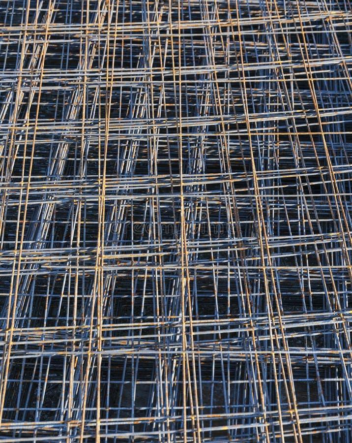 Rusty Metal-anker netto voor bouwconstructie royalty-vrije stock afbeeldingen