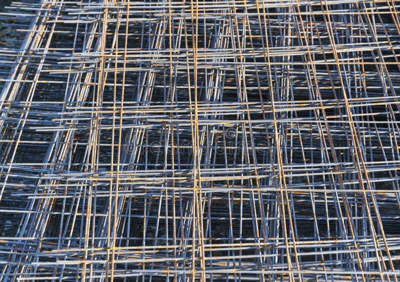Rusty Metal-anker netto voor bouwconstructie royalty-vrije stock fotografie