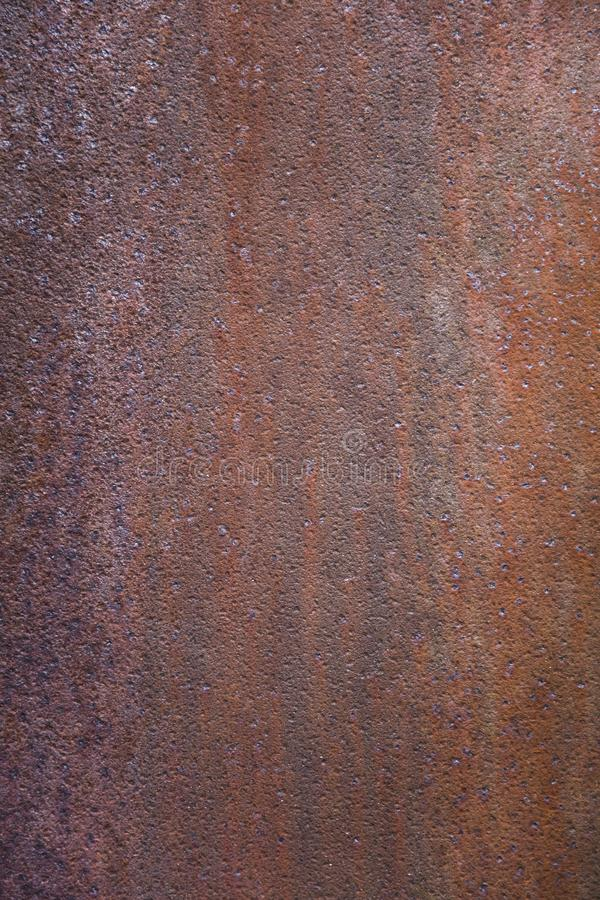 Rusty metal backdrop. Closeup detail of the rusty metal backdrop royalty free stock photos