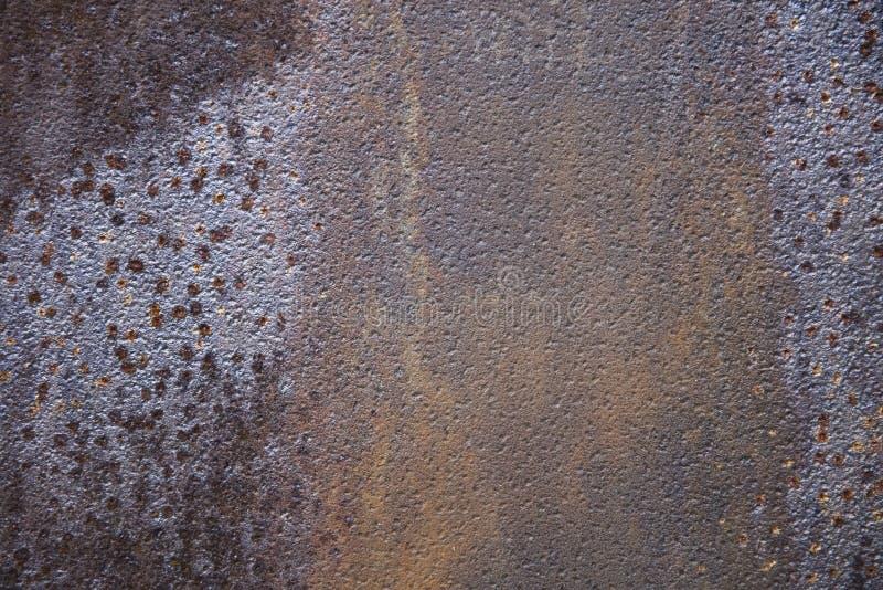 Rusty metal backdrop. Closeup detail of the rusty metal backdrop royalty free stock image