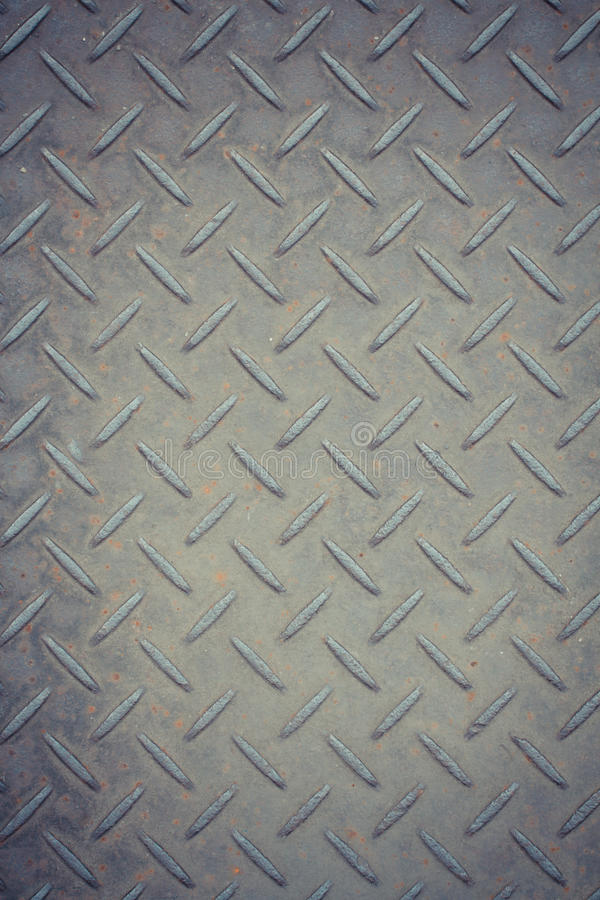 Rusty metal background with non slip repetitive pattern royalty free stock photography