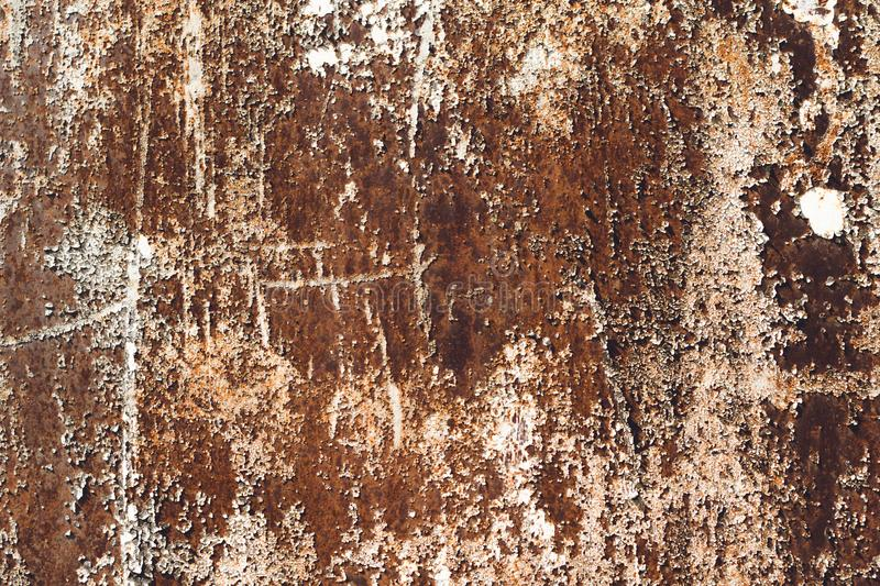 Rusty metal background. Old rust texture royalty free stock photography