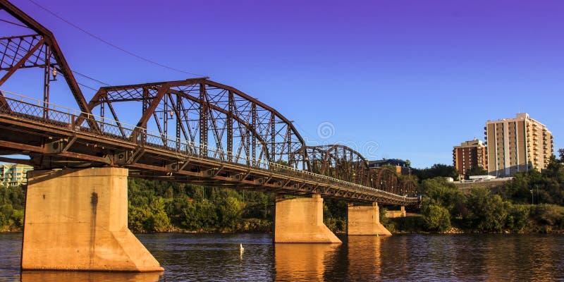 Rusty Metal Bridge anziano fotografia stock libera da diritti