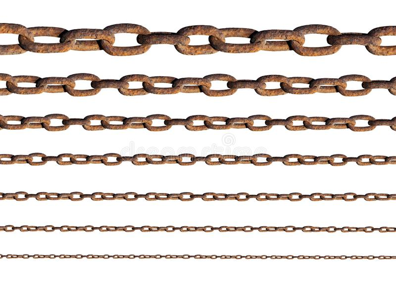 Rusty metal chains royalty free stock images