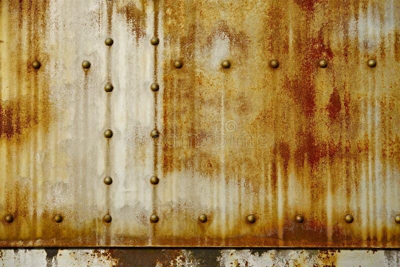 Rusty Metal con los remaches foto de archivo libre de regalías