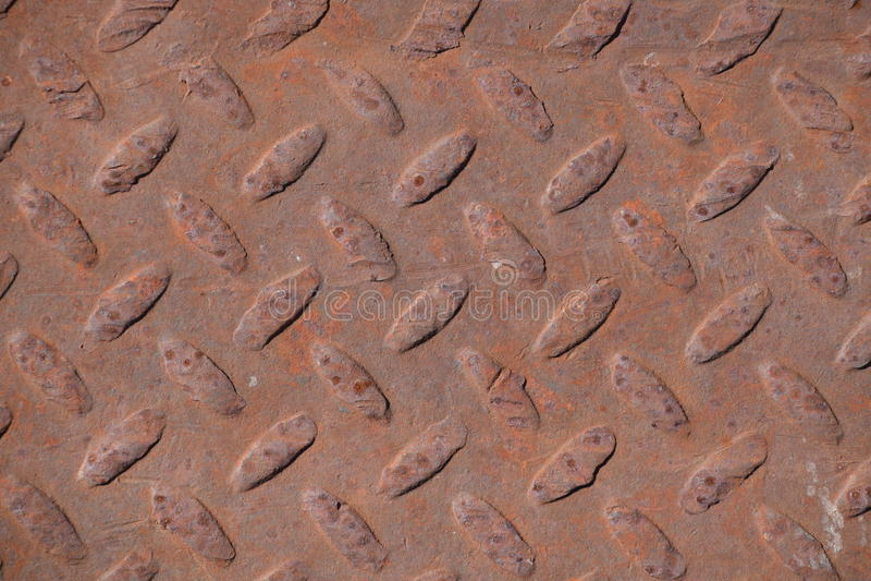 Rusty Metal Diamond Plate stock foto