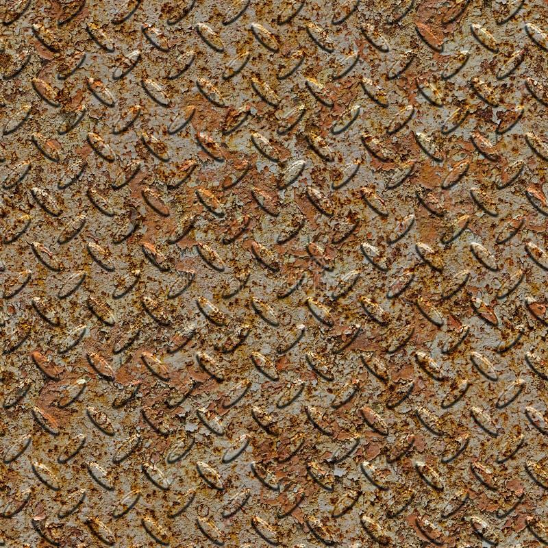 Rusty Metal Diamond Plate. Textura inconsútil. foto de archivo libre de regalías
