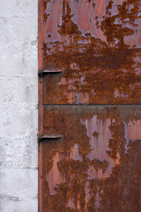 Rusty Metal Door Stock Image