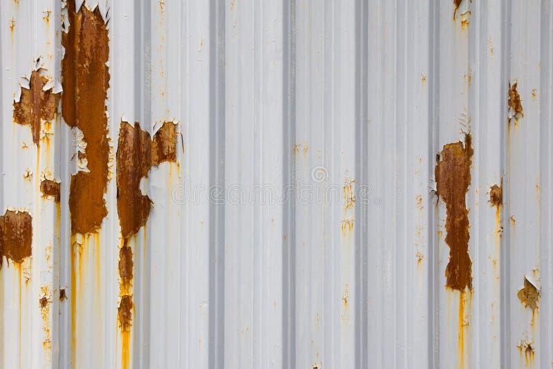 Rusty metal fence stock illustration