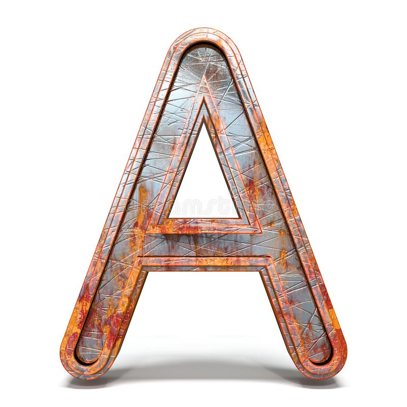 Free Rusty Metal Font Letter A 3D Royalty Free Stock Image - 146972686