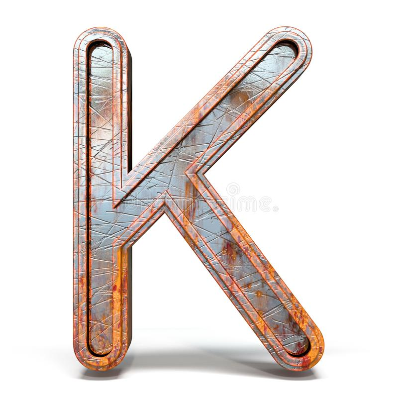 Free Rusty Metal Font Letter K 3D Stock Image - 146972861