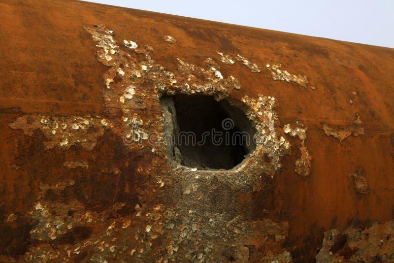 Rusty metal parts