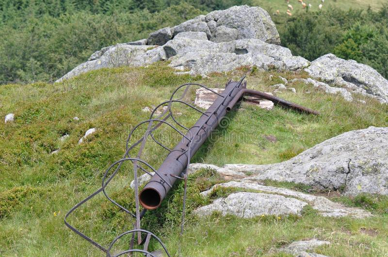 Rusty metal pipe royalty free stock images