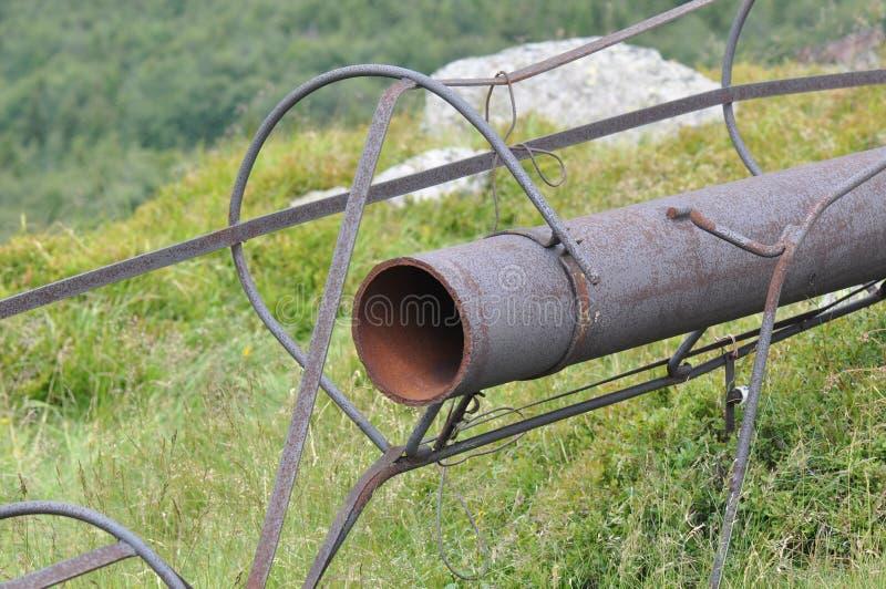 Rusty metal pipe stock photo