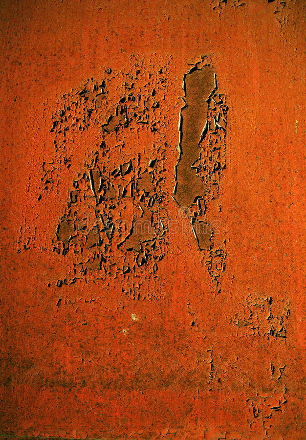 Rusty Metal Plate Stock Photography