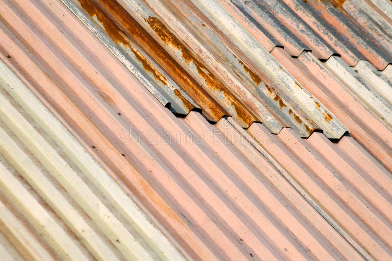Download Rusty metal roof stock photo. Image of pink, corrugated - 10977124