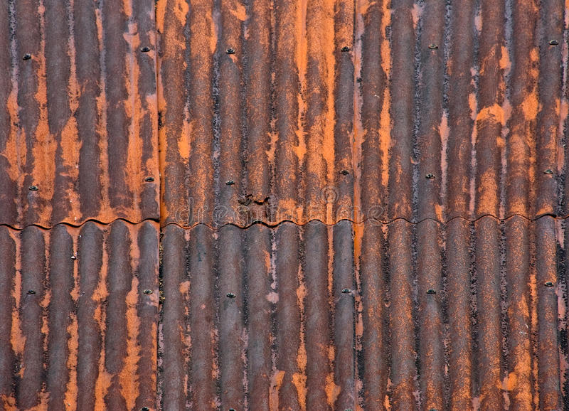 Rusty Metal Roof Stock Photo Image Of Corrugated Orange