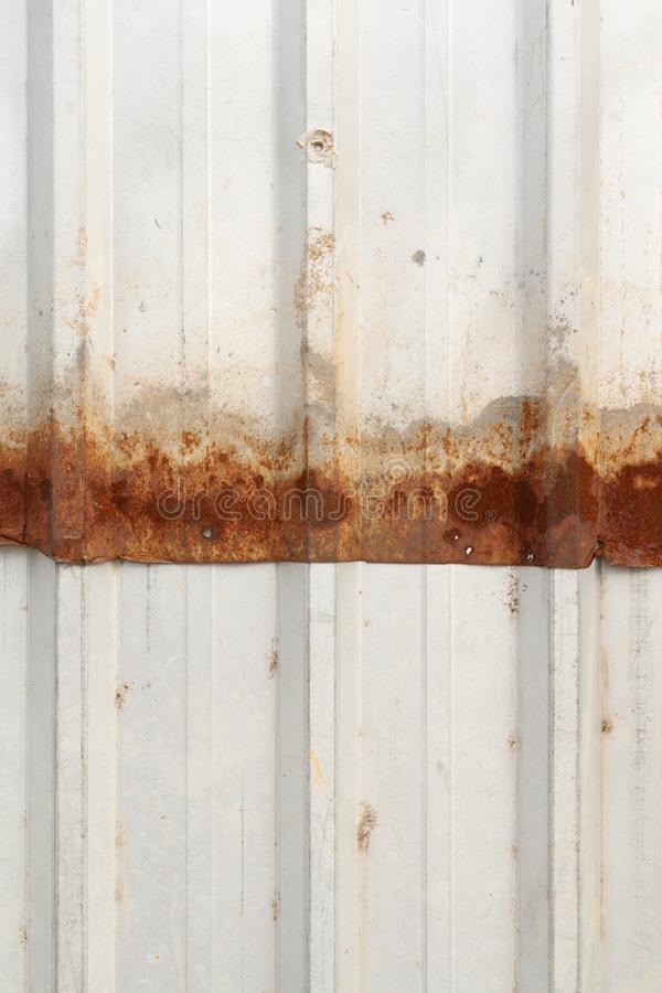 Rusty of metal sheet fence royalty free stock image