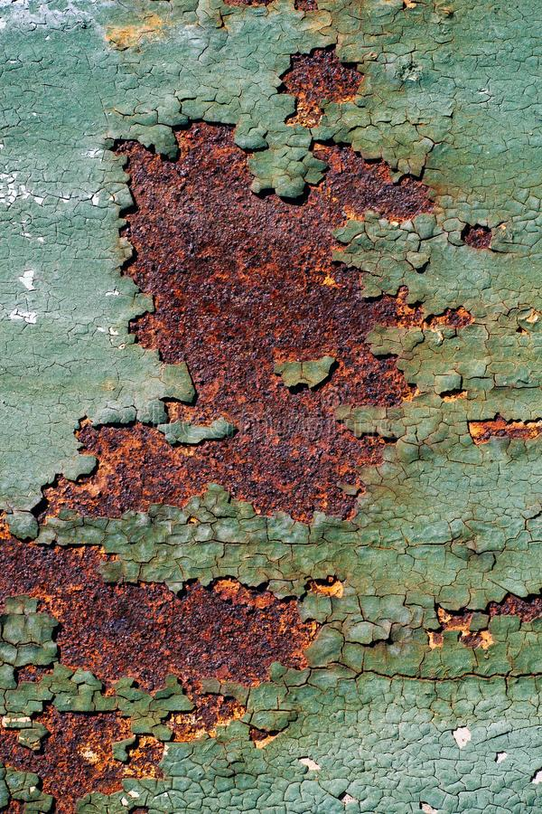 Rusty Metal Surface With Cracked Green Paint, Abstract ...