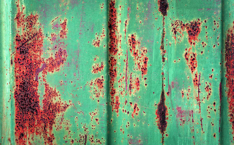 Rusty metal surface with scratches stock photo
