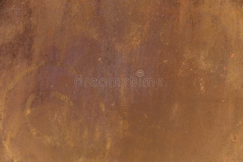 Rusty metal surface with stains and scratches royalty free stock image