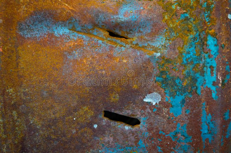 Rusty metal texture with geometric shapes, the background may be royalty free stock photos