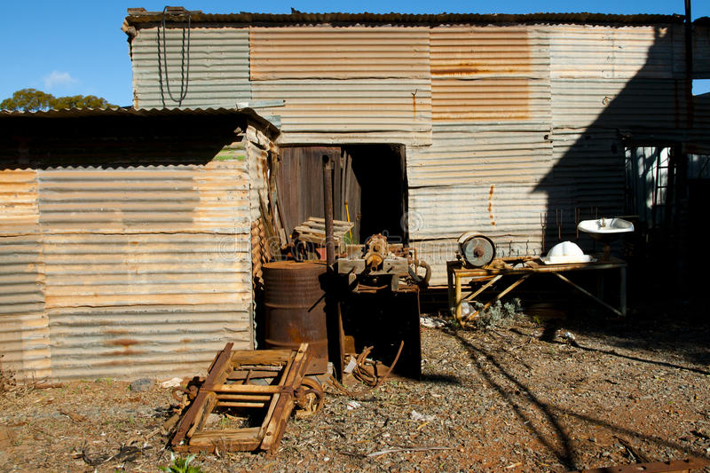 Rusty Mining Equipment imagen de archivo libre de regalías