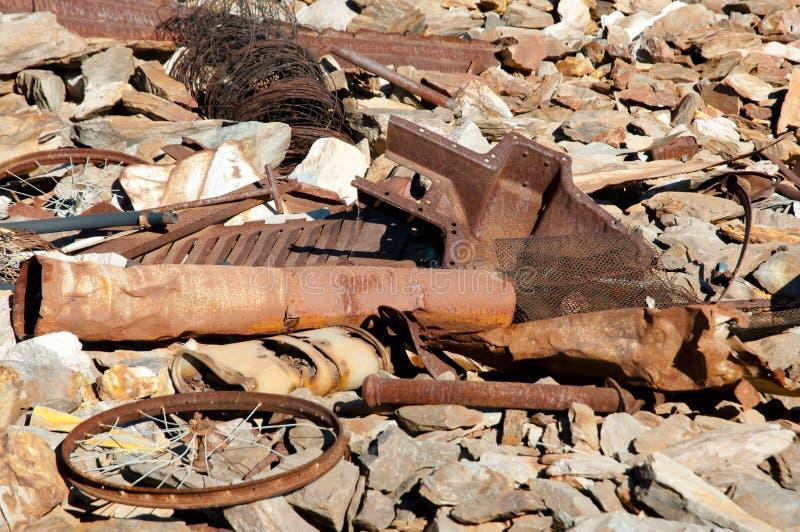 Rusty Mining Equipment foto de archivo libre de regalías