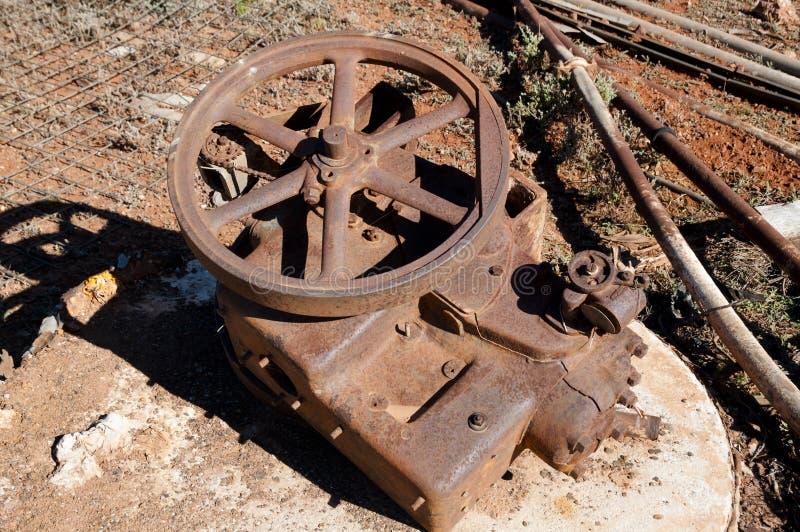 Rusty Mining Equipment fotos de archivo libres de regalías