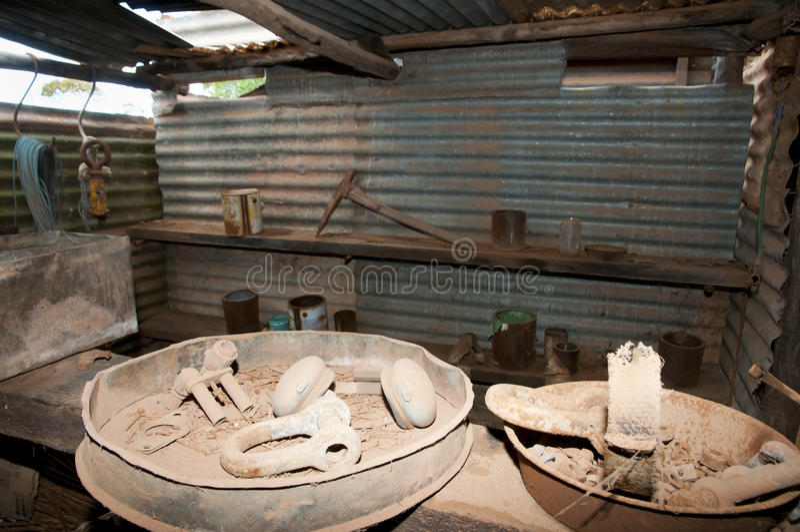 Rusty Mining Equipment imagen de archivo
