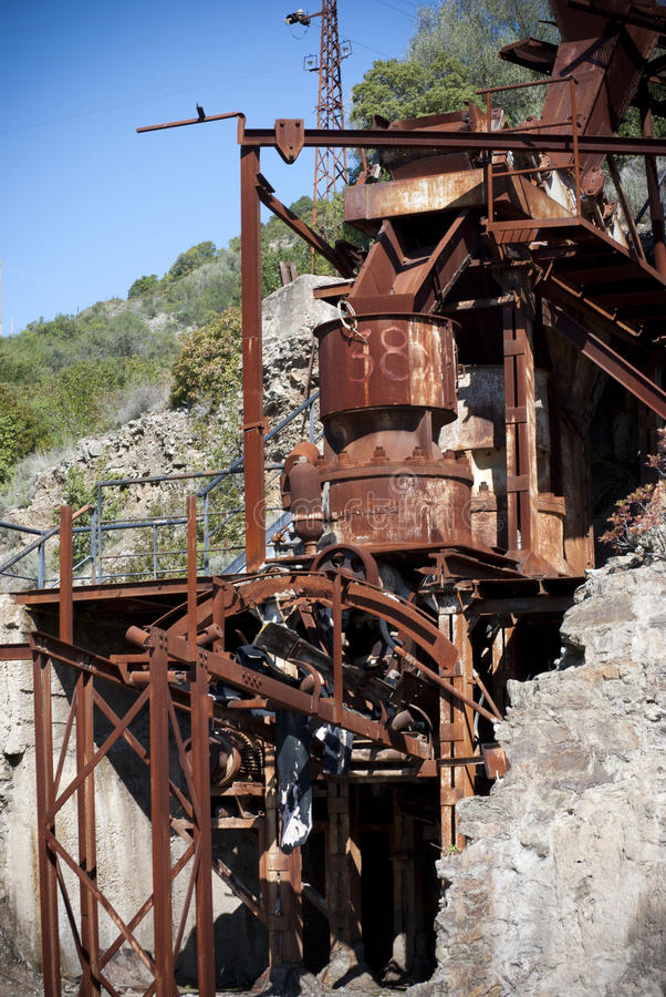 Rusty mining facility stock images